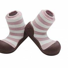 Attipas Natural Herb, roz, bumbac organic - Pantofi copii Attipas, Marime: 20, 21.5, 22.5, Fete, Textil