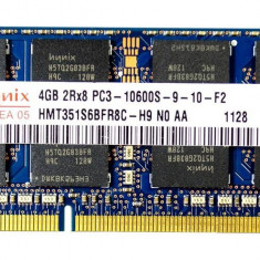 Ram laptop HYNIX 4GB DDR3 1333 Mhz SO DIMM PC3-10600S 1.5V HMT351S6BFR8C-H9 N0 - Memorie RAM laptop Hynix, 1600 mhz
