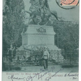 4275 - BUCURESTI, Litho, Mihai Bravu statue - old postcard - used - 1900 - TCV, Circulata, Printata