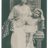 4254 - Regina Maria, Queen MARY and Princesse, Regale - old postcard - unused, Necirculata, Printata