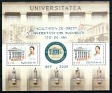 Romania 2009, LP 1851 a, Facultatea de Drept 150 ani, bloc, MNH! LP 22,75 lei, Nestampilat