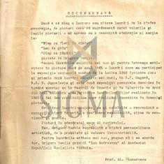 RECOMANDARE, AL. CIUCURENCU PENTRU PICTORUL VASILE GRIGORE, 1965 - Biografie