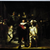 "Canvas printat (tablou) ""The Night Watch""- Rembrandt (100x70cm)"