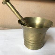 Mojar vechi,masiv,german,din bronz,cu piua