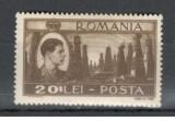 Romania.1947 Mihai I-Vederi 20 Lei EROARE linie  YR.73, Nestampilat