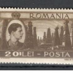 Romania.1947 Mihai I-Vederi 20 Lei EROARE linie YR.73 - Timbre Romania, Nestampilat