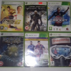LOT 6 Jocuri FIFA 15 - Quake - Bioshock - Snowboarding - XBOX 360 [Second hand] - Jocuri Xbox 360, Actiune, 18+, Single player