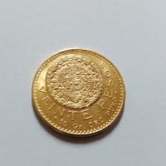 Moneda aur Mexic 1959 - 20 Pesos, America Centrala si de Sud