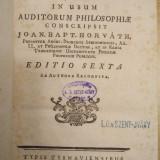 1776 - Horvath - INSTITUTIONES METAPHYSICAE - carte veche metafizica