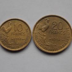 LOT 2 MONEDE FRANTA 1951, Europa