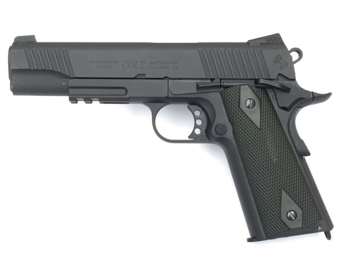 Replica Colt M1911 Rail Gun CO2 Cybergun Resigilat