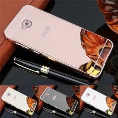 Husa / Bumper aluminiu + spate acril oglinda pt Asus Zenfone 4 Selfie ZD553KL