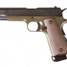 KJW M1911 full metal verde CO2 arma airsoft pusca pistol aer comprimat sniper shotgun