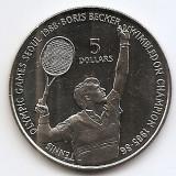 Niue 5 Dollars  1997 - Elizabeth II (Boris Becker) 38.5 mm KM-1, Australia si Oceania