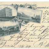 1271 - TIMISOARA, Romania, Litho - old postcard - used - 1899, Circulata, Printata