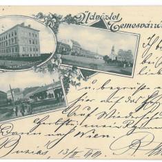 1271 - TIMISOARA, Romania, Litho - old postcard - used - 1899, Circulata, Printata