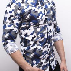 Camasa army barbati - camasa slim fit camasa verde camasa barbat cod 171