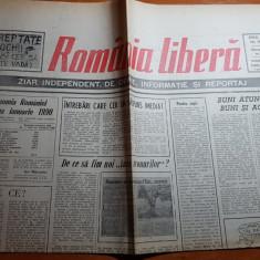 ziarul romania libera 18 februarie 1990-demonstaratia cadrelor militare
