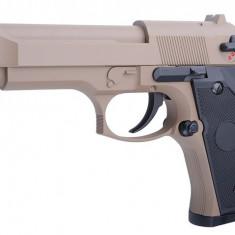 Replica pistol Beretta 92F CM126 TAN arma airsoft pusca pistol aer comprimat sniper shotgun