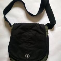 Poseta / geanta CRUMPLER negru cu verde, WeeBee M, 33x30x8cm - Geanta Dama, Culoare: Din imagine, Marime: Medie