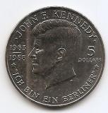 Niue 5 Dollars  1988 - Elizabeth II (J.F. Kennedy) 38.8 mm KM-17