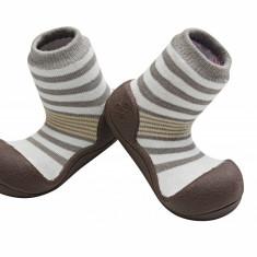 Attipas Natural Herb, maro, bumbac organic - Pantofi copii Attipas, Marime: 19, 20, 21.5, 22.5, Unisex, Textil