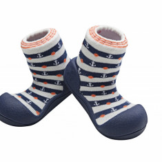Attipas Marine, bleumarin - Pantofi copii Attipas, Marime: 19, 20, 21.5, 22.5, Baieti, Textil