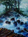 Pictura, tablou cu peisaj Stana De Vale pictura originala ELENA BISSINGER #594, Peisaje, Ulei, Realism