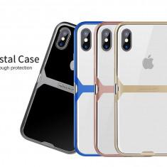 Husa iPhone X Crystal by Nillkin Grey - Husa Telefon Nillkin, Transparent, Gel TPU, Fara snur, Carcasa