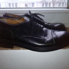 Pantofi barbati piele marime 44, Culoare: Negru