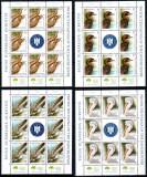 Romania 2010, LP 1868 c, Fauna Dunareana, minicoli de 8+1, MNH! LP 131,04 lei, Nestampilat