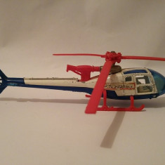 Macheta elicopter Majorette Gazelle, Made in France, Metal si plastic, 13cm - Elicopter de jucarie