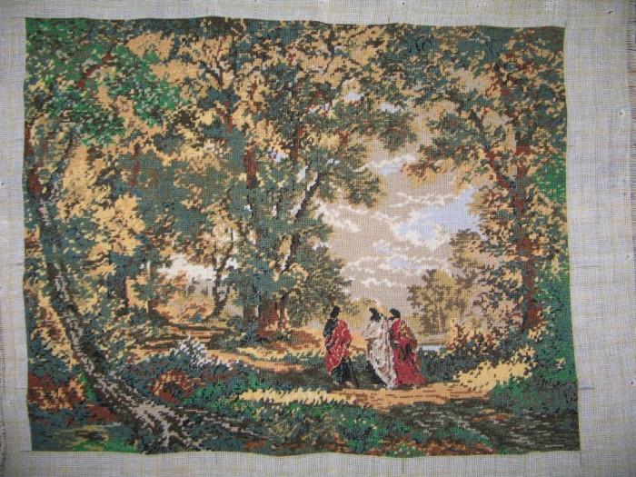 """Goblen """"Drum la Emmaus"""", 36 x 28 cm, 16 culori, nou, niciodata inramat"""