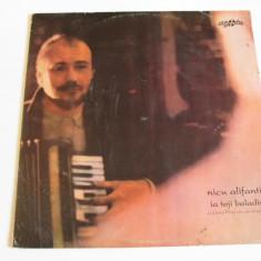 Disc vinil Eurostar 1992 Nicu Alifantis:Ia Toji Baladist,in stare f.buna, electrecord