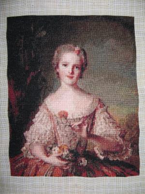 """Goblen """"Louise de France"""", 20 x 25 cm, 49 culori, nou, niciodata inramat. foto"""