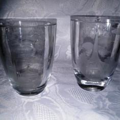 2 VAZE VECHI, CRISTAL GRAVAT. - Vaza sticla
