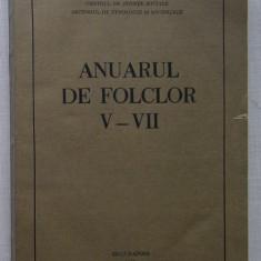 Universitatea Din Cluj - Anuarul De Folclor V - VII 1984-1986 - Carte folclor