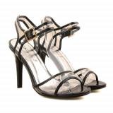 Sandale cu toc Electra negre, 35 - 40