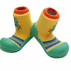 Attipas Robot, verzi - Pantofi copii Attipas, Culoare: Verde, Marime: 20, 21.5, 22.5, Baieti, Textil