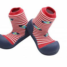 Attipas UFO, roșii - Pantofi copii Attipas, Culoare: Rosu, Marime: 19, 20, 21.5, 22.5, Baieti, Textil