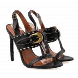Sandale cu toc Vibration negre