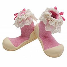 Attipas Lady, roz - Pantofi copii Attipas, Marime: 19, 20, 21.5, 22.5, Fete, Textil