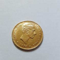 Moneda aur Mexic 1878 - 25 Pesetas, 22 Karat, America Centrala si de Sud