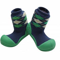 Attipas Argyle cu ciorăpel gros, verzi - Pantofi copii Attipas, Culoare: Verde, Marime: 20, 21.5, 22.5, Unisex, Textil