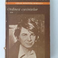 Ordinea cuvintelor/vol. II/Nichita Stanescu/1985 - Carte poezie