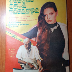 Revista jocuri de-a vacanta ianuarie 1988-sport, rebus, filatelie, umor etc
