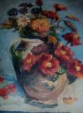 Tablou vechi pictat pe panza fara rama,pictura veche PICTATA pe panza,Tp.GRATUIT