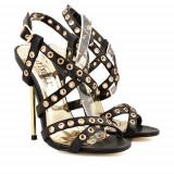 Sandale cu toc Lara negre