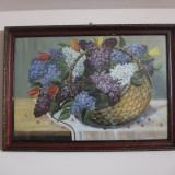 Pictură, coş cu flori, Ulei, Realism