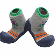 Attipas Robot, bleumarin - Pantofi copii Attipas, Marime: 19, 20, 21.5, 22.5, Baieti, Textil